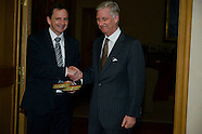 Jean-Michel Saive received by King Philippe
