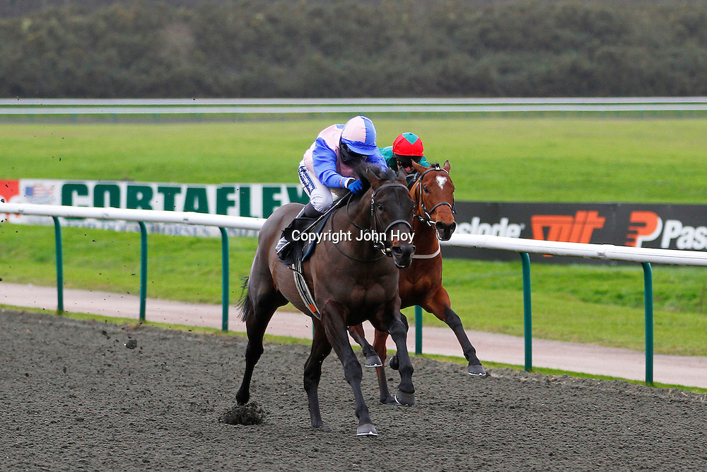 Forceful Appeal and Hayley Turner winning the 1.20 race