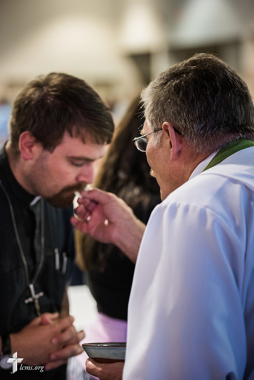 The Sacrament is given during the Opening Divine Service of the 66th Regular Convention of The Lutheran Church–Missouri Synod on Saturday, July 9, 2016, at the Wisconsin Center in Milwaukee. LCMS/Michael Schuermann