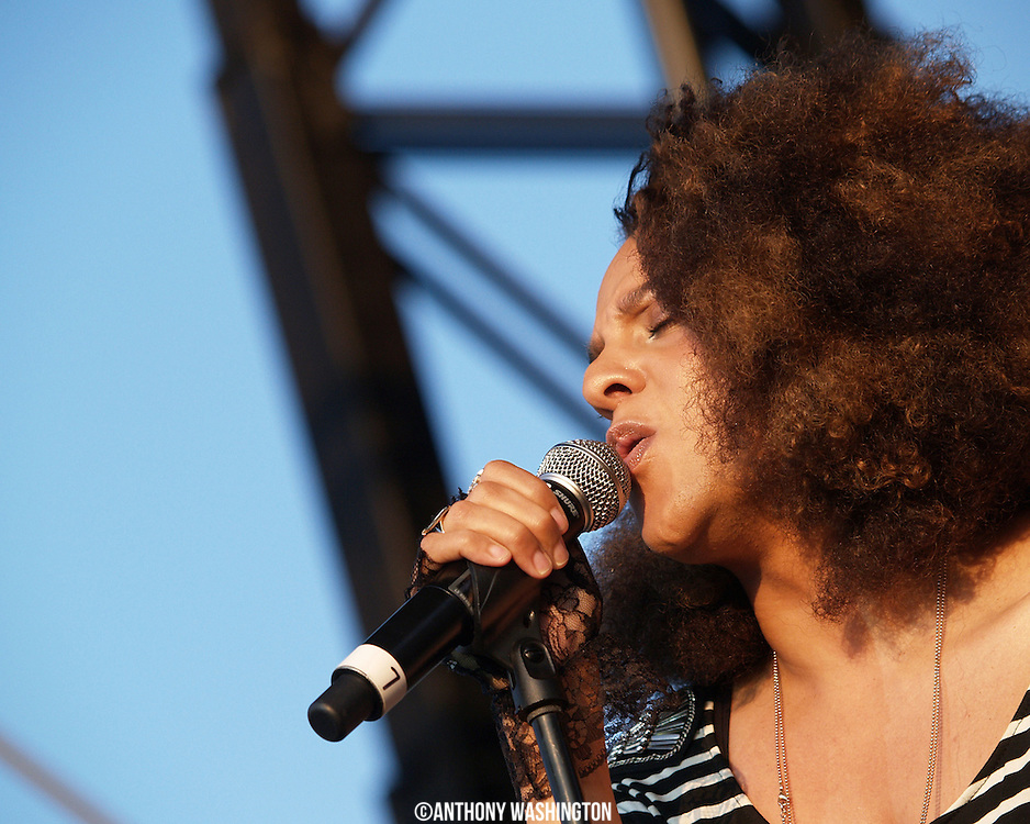 Marsha Ambrosius performs at the African <br />