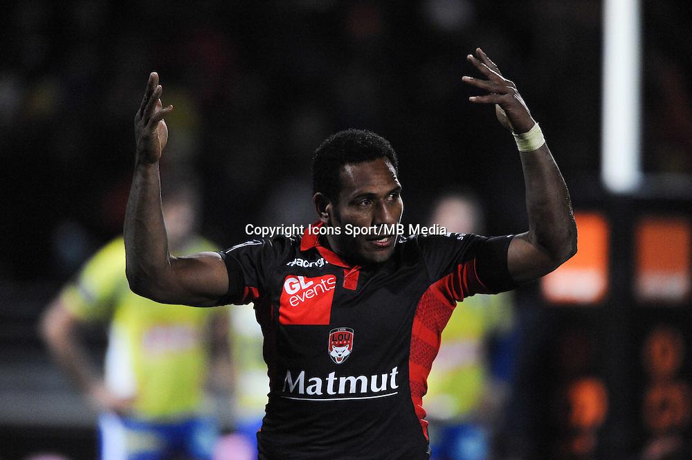 Mosese RATUVOU - 28.12.2014 - Lyon Olympique / Clermont - 14eme journee de Top 14 <br />Photo : Jean Paul Thomas / Icon Sport