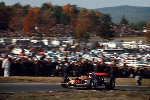 Jochen Rindt in Lotus 49 at 1967 USGP at Watkins Glen