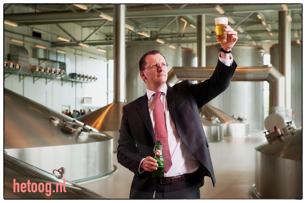 nederland, enschede, 12 juli2012 Topman Tom Verhaegen van bierbrouwer Grolsch foto: Cees Elzenga