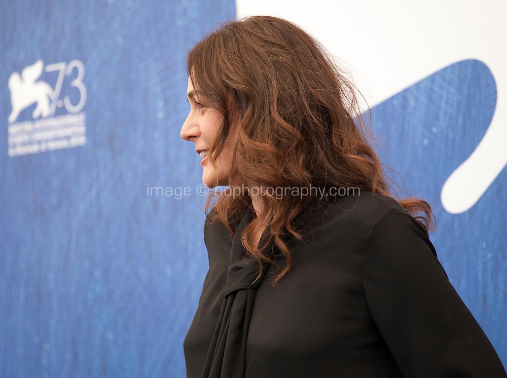 Sophie Semin at Les Beaux Jours d'Aranjuez (The Beautiful Days of Aranjuez) film photocall at the 73rd Venice Film Festival, Sala Grande on Thursday September 1st 2016, Venice Lido, Italy.