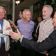 March 6, 2015, Indian Wells, California:<br /> John McEnroe and BNP Paribas Open CEO Raymond Moore talk with guests during the McEnroe Challenge for Charity VIP Draw Ceremony in Stadium 2 at the Indian Wells Tennis Garden in Indian Wells, California Friday, March 6, 2015.<br /> (Photo by Billie Weiss/BNP Paribas Open)