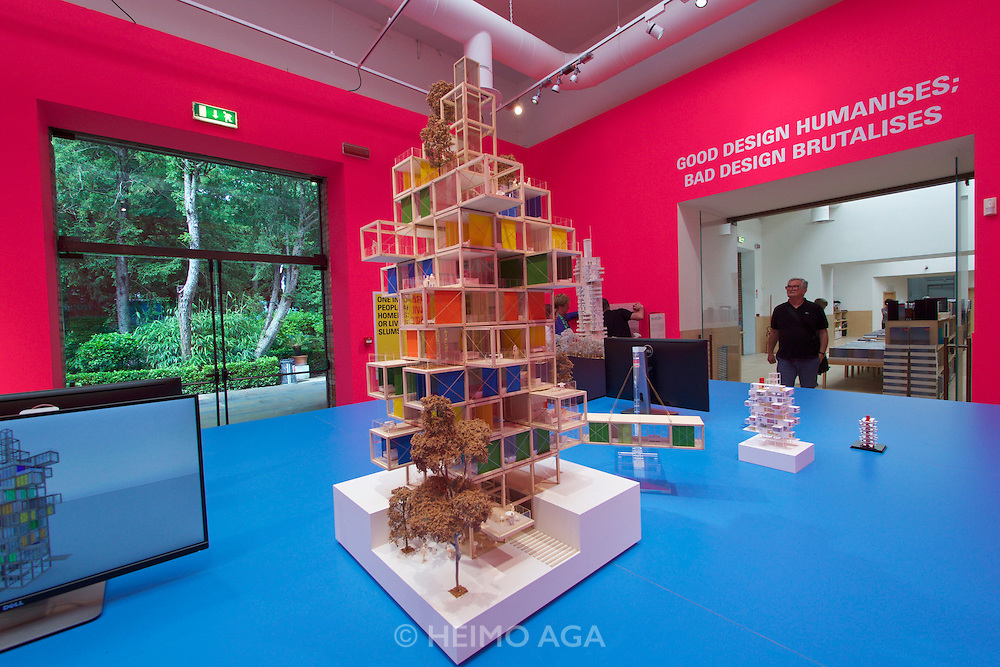 """Venice, Italy - 15th Architecture Biennale 2016, """"Reporting from the Front"""".<br /> International Pavilion.<br /> Rogers Stirn Harbour + Partners' Continuous Search and Research for the Social Use of Hi-Tech."""