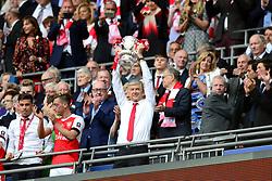 Arsenal manager Arsene Wenger celebrates winning the FA Cup - Mandatory by-line: Dougie Allward/JMP - 27/05/2017 - FOOTBALL - Wembley Stadium - London, England - Arsenal v Chelsea - Emirates FA Cup Final