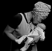 MT. VERNON, NY--2/28/98--Malikah Shabazz and her daughter, Bettih...by ANDRE F. CHUNG/SunStaff