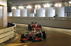 Formula One World Championship 2012 Grand Prix Monaco. Jenson Button GBR Vodafone McLaren Mercedes during practice. Thursday May 24, 2012. Photo By imago/i-Images