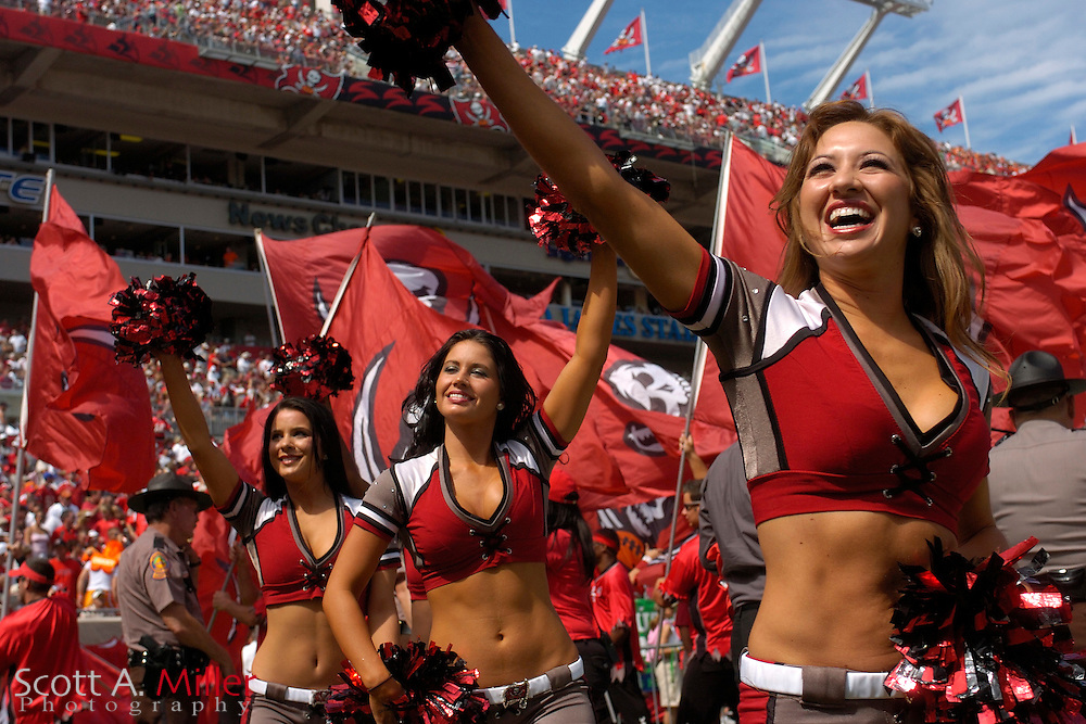 Oct. 15, 2006; Tampa, FL, USA; Tampa Bay Buccaneers cheerleaders during the first half of the Bucs game against the Cincinnati Bengals at Raymond James Stadium. ...©2006 Scott A. Miller