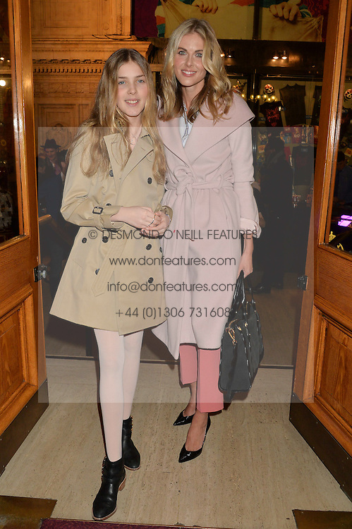 DONNA AIR and her daughter FREYA AIR ASPINALL at the Cirque Du Soleil's VIP performance of Kooza at The Royal Albert Hall, London on 6th January 2015.
