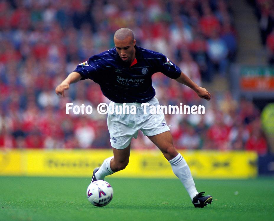 11.09.1999.Micha'l Silvestre - Manchester United.©Juha Tamminen