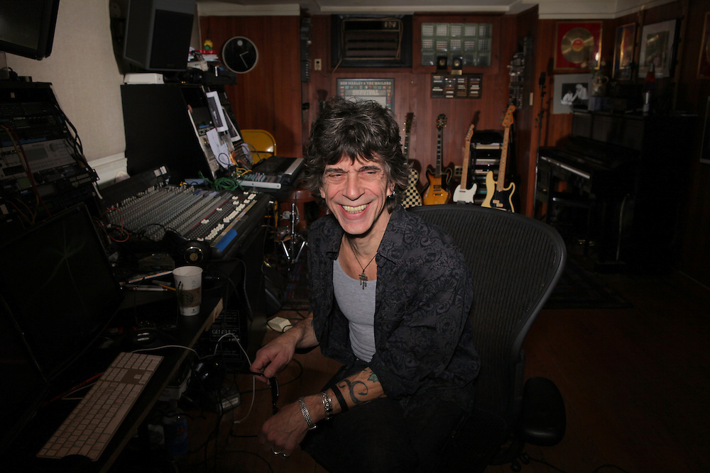 Rockland Rockstar Resident, and resident rocker, Joe Delia is photographed in his studio at his Tappan home Jan. 13, 2011. Delia is a career musician who provides keyboards and vocals for his band, Thieves, scores movies and has a long list of musical accomplishments to his name. ( Xavier Mascareñas / The Journal News )
