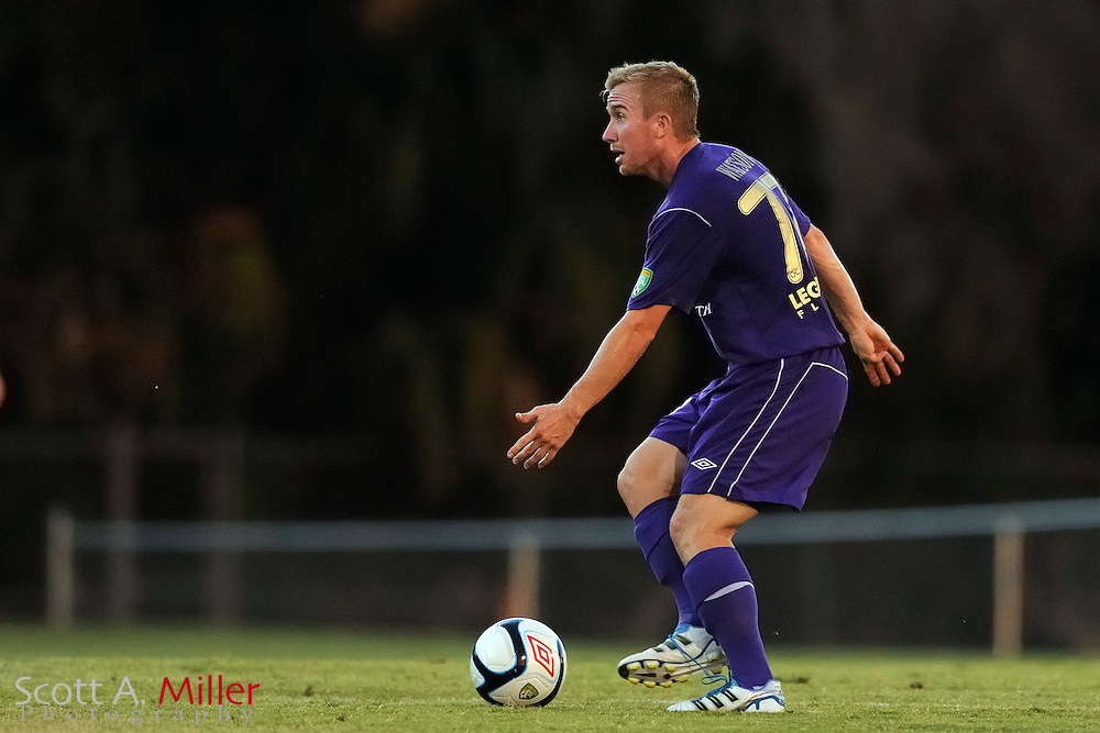 Orlando City's Jamie Watson (77) in action during the Lions game against the Kansas City Athletics in their US Open Cup game at the Seminole Soccer Complex on May 22, 2012 in Sanford, Fla. ..©2012 Scott A. Miller.