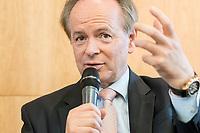 18 JUN 2018, BERLIN/GERMANY:<br /> Gerhard Hofmann, Praesident des Europaeischen Verbandes der Genossenschaftsbanken (EACB) und  Vorstandsmitglied des Bundesverbandes der Deutschen Volksbanken und Raiffeisenbanken, Veranstaltung Wirtschaftsforum der SPD: &quot;Finanzplatz Deutschland 2030 - Vision, Strategie, Massnahmen!&quot;, Haus der Commerzbank<br /> IMAGE: 20180618-01-126