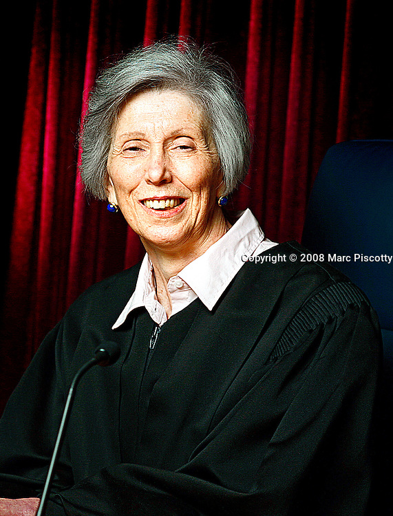 SHOT 11/7/08 12:28:34 PM - Colorado State Supreme Court Chief Justice Mary J. Mullarkey photographed in the State Supreme Court Chambers in Denver, Co. Mullarkey has served as Chief Justice for about 10 years and has sat on the Supreme Court for more than 20 years. (Photo by Marc Piscotty / © 2008)