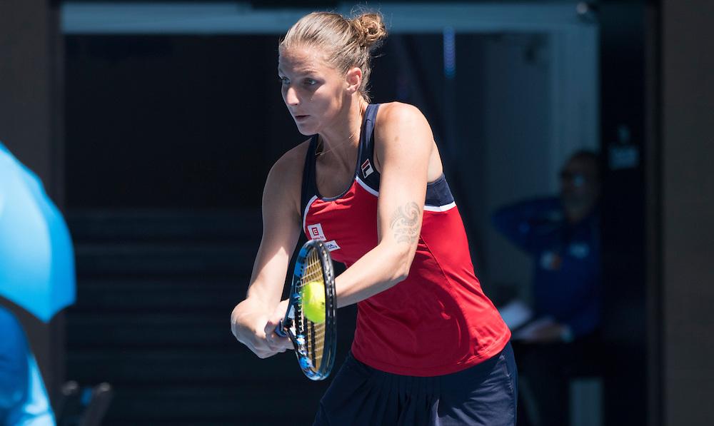 Karolina Pliskova of the Czech Republic on day ten of the 2017 Australian Open at Melbourne Park on January 25, 2017 in Melbourne, Australia.<br /> (Ben Solomon/Tennis Australia)