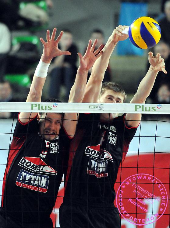 2009 / 02 / 15 bydgoszcz ..siatkowka plusliga ..mecz delecta bydgoszcz - domex tytan azs czestochowa ..n / z : andrzej stelmach , piotr nowakowski ..foto . piotr sumara / mediasport