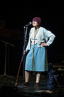 Betty Spital performing at In praise of an English radical - A Celebration of Linda Smith, Lyceum Theatre Sheffield.