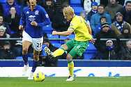 Picture by Paul Chesterton/Focus Images Ltd.  07904 640267.17/12/11.Zac Whitbread of Norwich in action during the Barclays Premier League match at Goodison Park Stadium, Liverpool.