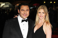 LONDON - OCTOBER 21: David Walliams; Lara Stone attended the European Film Premiere of 'Great Expectations' at the Odeon Leicester Square, London, UK. October 21, 2012. (Photo by Richard Goldschmidt)