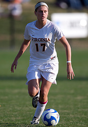 Virginia midfielder/forward Sinead Farrelly (17)..The Virginia Cavaliers defeated the William and Mary Tribe 1-0 in the second round of the NCAA Women's Soccer tournament held at Klockner Stadium in Charlottesville, VA on November 18, 2007.