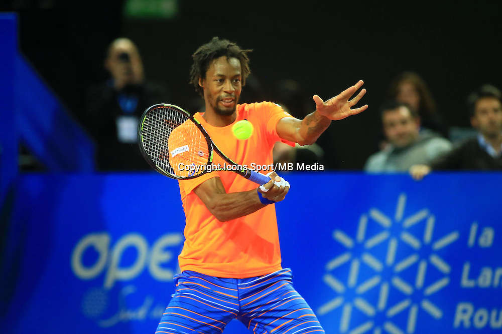Gael MONFILS - 05.02.2015 - Tennis - Open Sud de France- Montpellier<br />