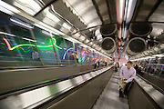 Subway entrance. Escalator.