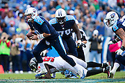 NASHVILLE, TN - OCTOBER 25:  Zach Mettenberger #7 of the Tennessee Titans runs the ball against the Atlanta Falcons at Nissan Stadium on October 25, 2015 in Nashville, Tennessee.  The Falcons defeated the Titans 10-7.  (Photo by Wesley Hitt/Getty Images) *** Local Caption *** Zach Mettenberger