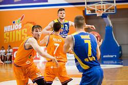 Jan Rebec of KK Sencur during basketball match between KK Helios Suns and KK Sencur in Playoffs of Liga Nova KBM 2017/18, on April 7, 2018 in Domzale, Slovenia. Photo by Urban Urbanc / Sportida