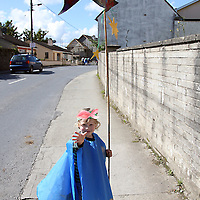 Oscar Cowney made the walk down over the bridge to take part in the kids parade at the Brian Boru Festival in Killaloe/Ballina on Saturday.<br />