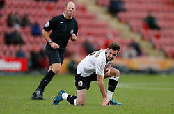 Greg Cunningham of Bristol City whinces after taking a knock - Photo mandatory by-line: Rogan Thomson/JMP - 07966 386802 - 20/12/2014 - SPORT - FOOTBALL - Crewe, England - Alexandra Stadium - Crewe Alexandra v Bristol City - Sky Bet League 1.
