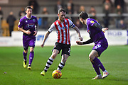 Jake Taylor (25) of Exeter City on the attack during the EFL Sky Bet League 2 match between Exeter City and Grimsby Town FC at St James' Park, Exeter, England on 29 December 2018.