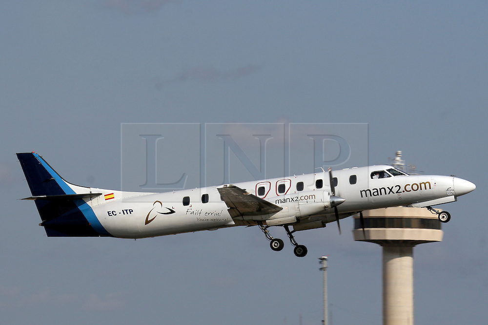 © under license to London News Pictures. A file photograph of the Manx2.com plane on an earlier flight. The same aircraft crashed today in Cork, Ireland, Killing 6 people. The planes registration number is EC-ITP. Photo credit should read Javier Rodriguez/ London News Pictures