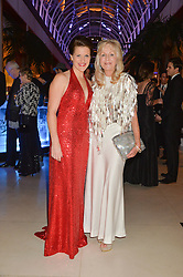 Left to right, MAJOR KATE PHILP and LIZ BREWER at Steps To The Future -in aid of RAFT (Restoration of Appearance & Function Trust) and Walking With The Wounded held at The Hurlingham Club, London on 28th November 2014.