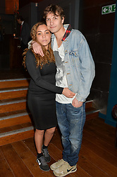 MIQUITA OLIVER and LUKE BRINKERS - DJ IQ at the opening party of MODE nightclub, 12 Acklam Road, London on 4th April 2014.