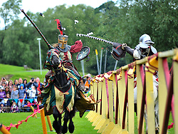 Tens of thousands of spectators were treated to displays including hand to hand combat and jousting during Historic Scotland's 2 day event held at Linlithgow Palace in West Lothian.<br /> <br /> © Dave Johnston/ EEm