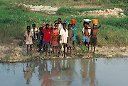 Children by an African River - Nigeria