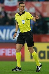 March 21, 2019 - Vienna, Austria - Refeer Anastasios Sidiropoulos during the UEFA European Qualifiers 2020 match between Austria and Poland at Ernst Happel Stadium in Vienna, Austria on March 21, 2019. (Credit Image: © Foto Olimpik/NurPhoto via ZUMA Press)