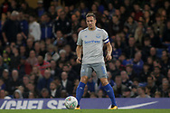 Phil Jagielka of Everton in action.<br /> EFL Carabao Cup 4th round match, Chelsea v Everton at Stamford Bridge in London on Wednesday 25th October 2017.<br /> pic by Kieran Clarke, Andrew Orchard sports photography.