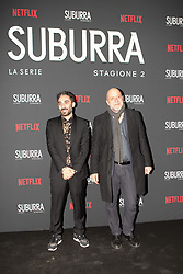 Andrea Molaioli e Pietro Messina at the Red Carpet of the series Suburra 2 at Circolo Degli Illuminati in Rome, Italy, 20 February 2019  (Credit Image: © Lucia Casone/Soevermedia via ZUMA Press)