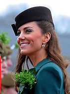 """CATHERINE, DUCHESS OF CAMBRIDGE PREGNANT .An official staement by Buckingham Palace confirmed Kate's pregnancy. However, no date of birth has been given...KATE PRESENTS SHAMROCKS TO IRISH GUARDS.The Duchess of Cambridge presented shamrocks to members of 1 Irish Guards at Mons Barracks in Aldershot to mark the occasion of St Patricks Day_17/03/2012.Mandatory Credit Photo: ©A Baskerville/NEWSPIX INTERNATIONAL..**ALL FEES PAYABLE TO: """"NEWSPIX INTERNATIONAL""""**..IMMEDIATE CONFIRMATION OF USAGE REQUIRED:.Newspix International, 31 Chinnery Hill, Bishop's Stortford, ENGLAND CM23 3PS.Tel:+441279 324672  ; Fax: +441279656877.Mobile:  07775681153.e-mail: info@newspixinternational.co.uk"""