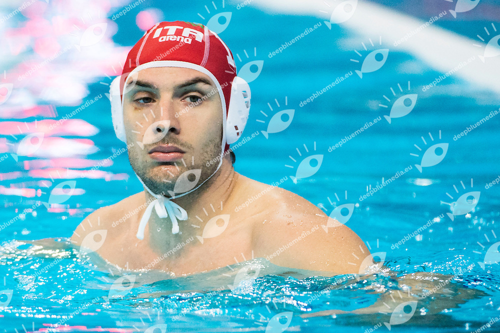13 DEL LUNGO Marco ITA red cap<br /> LEN European Water Polo Championships 2016<br /> Men ITA - TUR Italy (White) Vs Turkey (Blue)<br /> Kombank Arena, Belgrade, Serbia <br /> Day08  17-01-2016<br /> Photo G. Scala/Insidefoto/Deepbluemedia