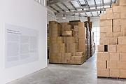 DUBAI, UAE - APRIL 30, 2016: The Warehouse Project of Beirut-born Mumbai-raised artist Vikram Divech is installed at Alserkal Avenue in Dubai' Al Quoz Industrial Area.