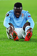 Bobby Adekanye of Lazio sits on the ground during the UEFA Europa League, Group E football match between SS Lazio and CFR Cluj on November 28, 2019 at Stadio Olimpico in Rome, Italy - Photo Federico Proietti / ProSportsImages / DPPI