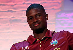 West Indies' Jason Holder during the Cricket World Cup captain's launch event at The Film Shed, London.