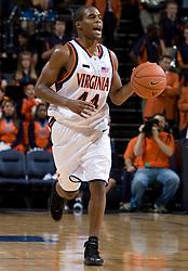 Virginia Cavaliers G Sean Singletary (44)..The Virginia Cavaliers men's basketball team defeated the Vermont Catamounts 90-72 at the John Paul Jones Arena in Charlottesville, VA on November 11, 2007.