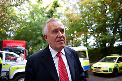 © licensed to London News Pictures  15/09/2011 . Pontardawe,UK. Peter Hain MP for Neath at the scene of the trapped miners. An operation in underway to rescue four miners trapped in a mine in the Swansea Valley. Photo credit :Aled Llywelyn/LNP