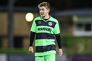 Forest Green Rovers Daniel Bradshaw(15) during the FA Youth Cup match between U18 Forest Green Rovers and U18 Cheltenham Town at the New Lawn, Forest Green, United Kingdom on 29 October 2018.