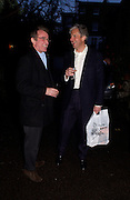 Patrick Donovan and Lord Alastair Margadale, 1812 Napoleon's Fatal March on Moscow by Adam Zamoyski book launch. Avenue Studios. Fulham Rd. 5 April 2004. ONE TIME USE ONLY - DO NOT ARCHIVE  © Copyright Photograph by Dafydd Jones 66 Stockwell Park Rd. London SW9 0DA Tel 020 7733 0108 www.dafjones.com